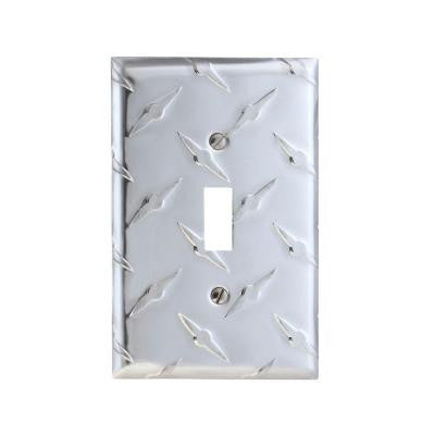 Garage 1 Toggle Wall Plate - Chrome