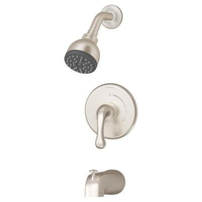 Unity 1-Handle Tub and Shower Faucet in Satin Nickel