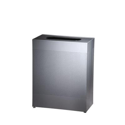 Silhouette 22-1/2 Gal. Silver Rectangular Trash Can