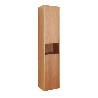 Delmore 11-6/8 in. W x 8-7/8 in. D x 55-1/10 in. H Bathroom Wall Cabinet in Chestnut