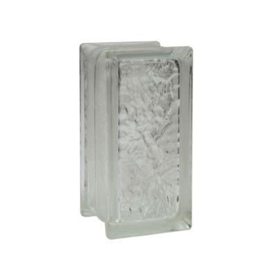 IceScapes 8 in. x 4 in. x 4 in. Glass Block (12 - Case)