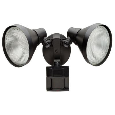 180-Degree Outdoor Black Motion-Sensing Security Light