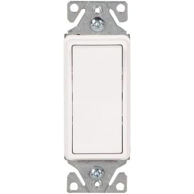 15 Amp 120-277-Volt Heavy-Duty Grade 3-Way Decorator Lighted Switch with Back and Push Wire - White