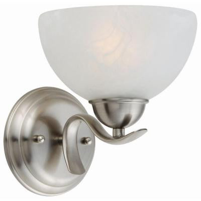 Trevie 1-Light Satin Nickel Sconce