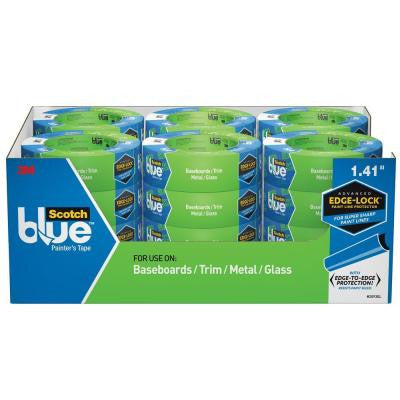 ScotchBlue 1.41 in. x 60 yds. Advanced Multi-Surface Painter's Tape with Edge-Lock (24-Pack)