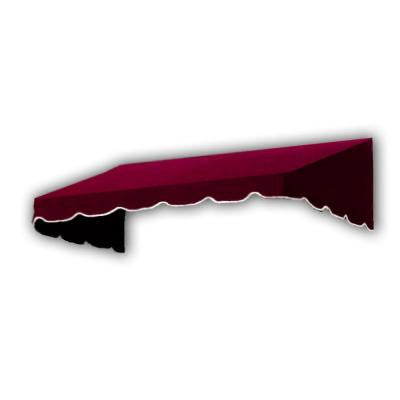 10 ft. San Francisco Window/Entry Awning Awning (18 in. H x 36 in. D) in Burgundy