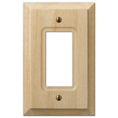 1 Decora Wall Plate - Un-Finished Wood