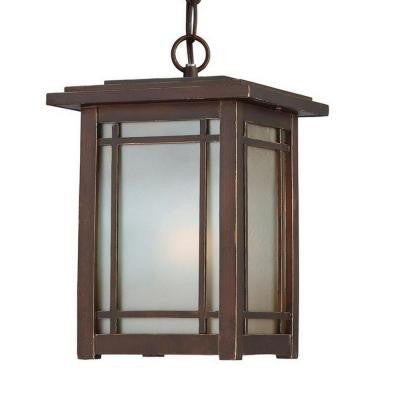 Port Oxford 1-Light Oil Rubbed Chestnut Outdoor Hanging Mount Lantern