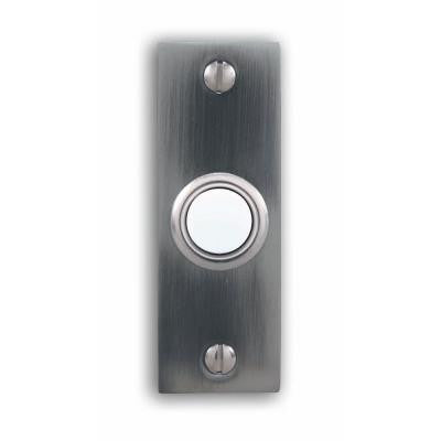 Wired Pewter Push Button With Lighted Center