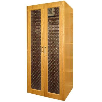 458-Bottle Decorative Wine Cellar in White Wash