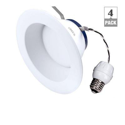 6 in. TW Series 65W Equivalent Soft White (2700K) Dimmable LED Retrofit Recessed Downlight (4-Pack)