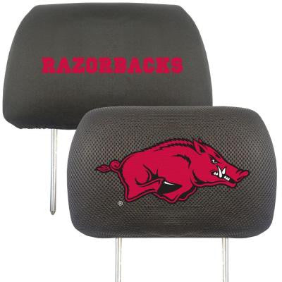 NCAA -University of Arkansas Head Rest Cover (2-Pack)
