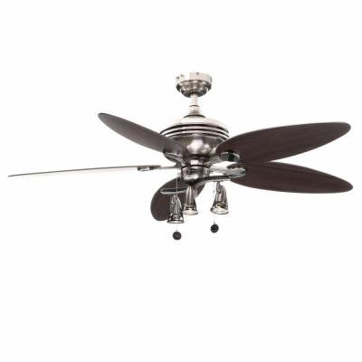 Xavier II 52 in. Brushed Nickel Ceiling Fan