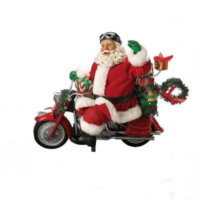 10.5 in. Motorcycle Santa