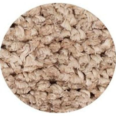 Heavenly Shag Beige 6 ft. x 6 ft. Round Area Rug