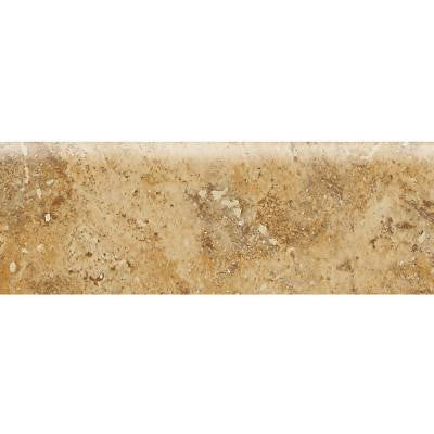 Heathland Amber 2 in. x 6 in. Glazed Ceramic Bullnose Wall Tile
