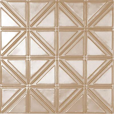 2 ft. x 2 ft. Lay-in Suspended Grid Tin Ceiling Tile in Satin Brass (24 sq. ft. / case)