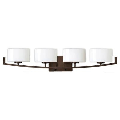 Burye 4-Light Oil Rubbed Bronze Vanity Light