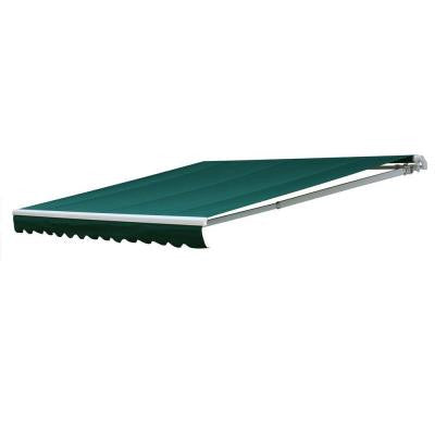 14 ft. 7000 Series Manual Retractable Awning (122 in. Projection) in Green
