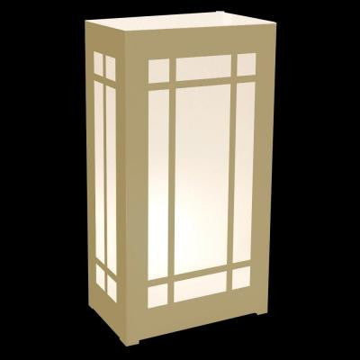Gold Lantern Plastic Luminaria Lanterns (Set of 12)