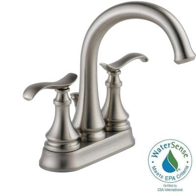 Kinley 4 in. Centerset 2-Handle Bathroom Faucet in SpotShield Brushed Nickel