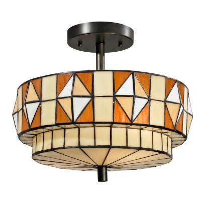 Westcott 2-Light Dark Bronze Semi-Flush Mount Light