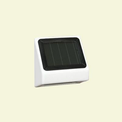 White Solar Post Side Light