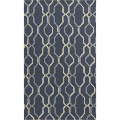 Orizaba Navy 2 ft. x 3 ft. Indoor/Outdoor Area Rug