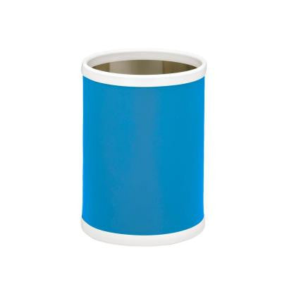 10 in. Process Blue Round Trash Can