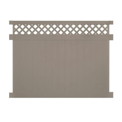 Colfax 6 ft. x 8 ft. Khaki Vinyl Privacy Fence Panel