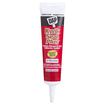 Kwik Seal Plus 5.5 oz. White Premium Kitchen and Bath Adhesive Caulk (12-Pack)