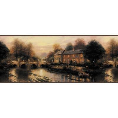 10.25 in. x 15 ft. Purple Lamp Light Inn Border