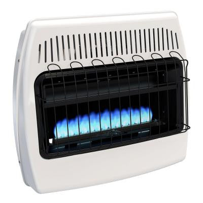 30,000 BTU Blue Flame Vent Free Natural Gas Wall Heater