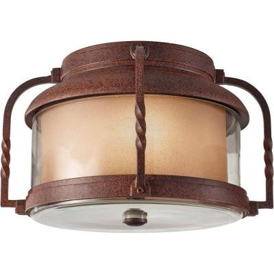 Menlo Park 1-Light Outdoor Cinnamon Flush Mount