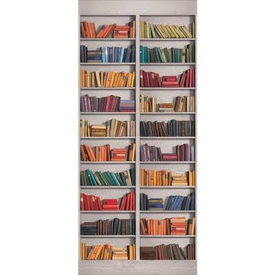 120 in. x 26 in. American Classics 2-Panel Book Shelf Wall Mural