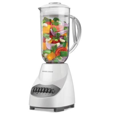 450 Watt 10-Speed Plastic Blender in White
