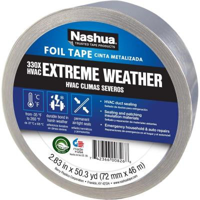 2-7/8 in. x 50 yd. Extreme Weather HVAC Foil Tape