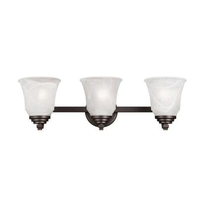 Wensley 3-Light Oil Rubbed Bronze Wall Fixture