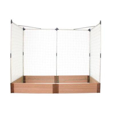 Two Inch Series 4 ft. x 8 ft. x 11 in. Composite Raised Garden Bed Kit with two Veggie Walls