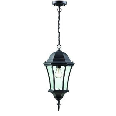 Lawrence 1-Light Outdoor Black Incandescent Hanging Pendant