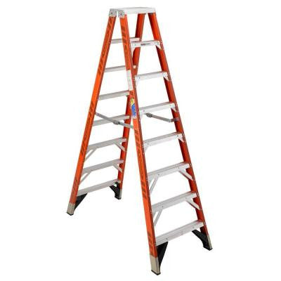 12 ft. Fiberglass Twin Step Ladder with 375 lb. Load Capacity Type IAA Duty Rating