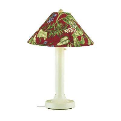 Catalina 34 in. Outdoor Bisque Table Lamp with Lacquer Shade