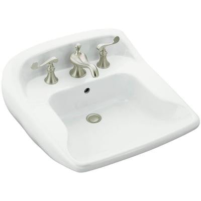 Worthington Wall-Mounted Bathroom Sink in White
