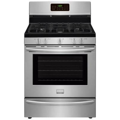 Gallery 5.0 cu. ft. Gas Range with Convection Self-Cleaning Oven in Stainless Steel