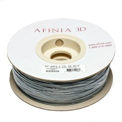 Value-Line 1.75 mm Silver ABS Plastic 3D Printer Filament (1kg)