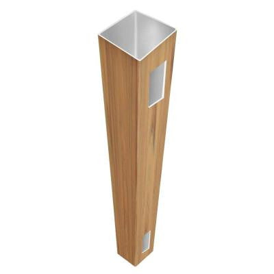 0.135 in. x 4 in. x 6 ft. Vinyl Cypress Fence End Post
