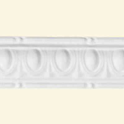 27 in. Huron Tin Molding in Gloss White (2-Pack)