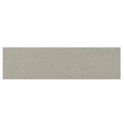 Identity Cashmere Gray Grooved 4 in. x 24 in. Porcelain Bullnose Floor and Wall Tile