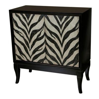 2-Door Chest in Zebra Print