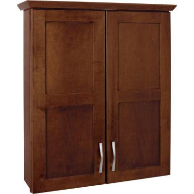Casual 25 in. W Bath Storage Cabinet in Cognac
